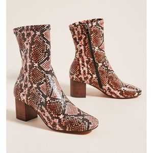 Anthropologie Silent D Cabre Boots in Snake 41
